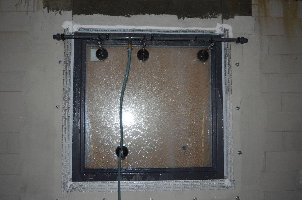 Badanie wodoszczelności montażu na placu budowy