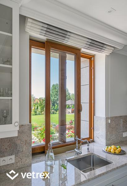 Okno przesuwne w kuchni - Vetrex Patio Light