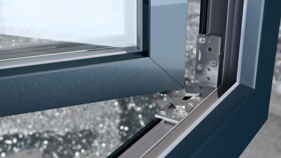 Promocja zimowa Vetrex - ukryte zawiasy gratis w oknie LUM'UP