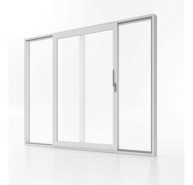 Drzwi przesuwne Aluplast Smart-Slide w pozycji otwartej