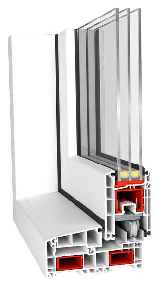 Drzwi przesuwne Aluplast Smart-Slide przekrój