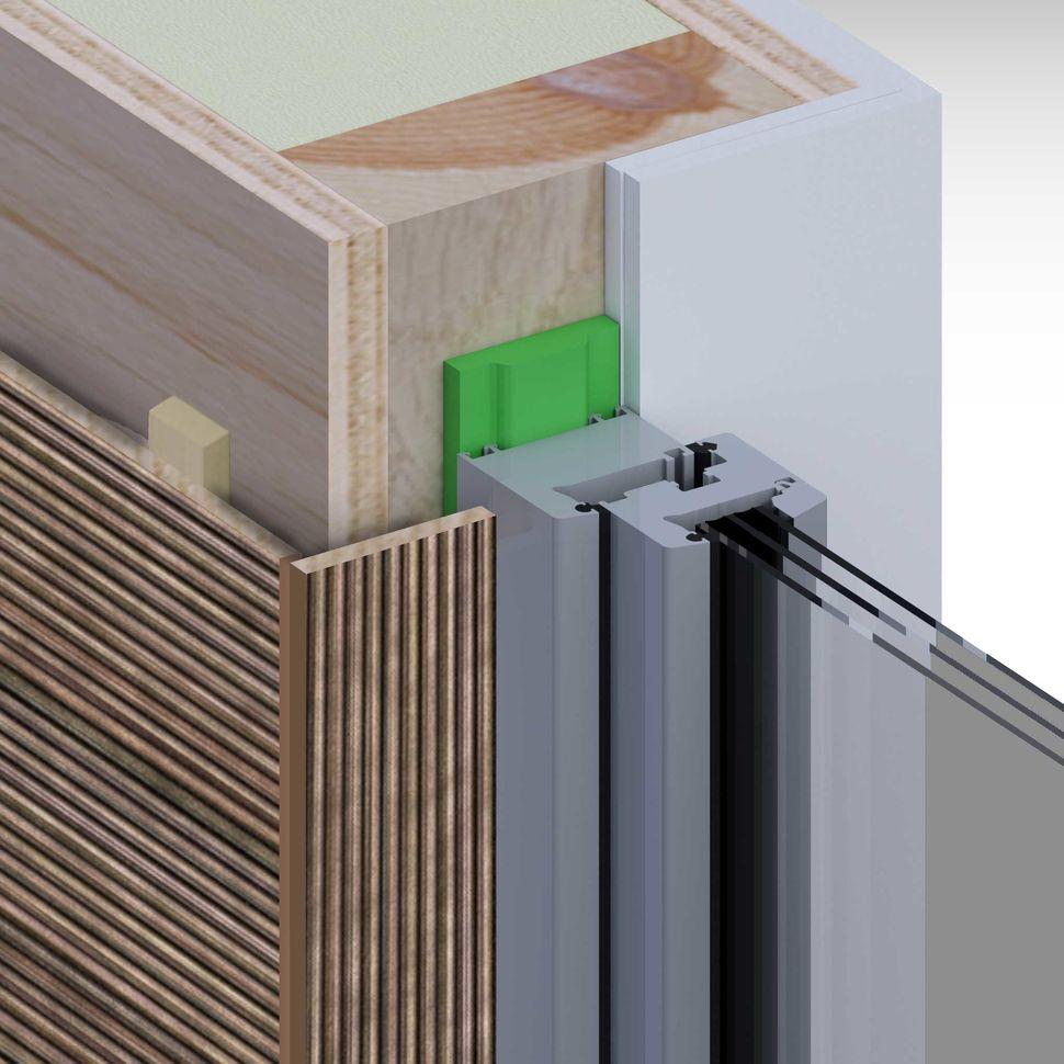 Montaż okna, uszczelnienie taśmą rozprężną w ścianie drewnianej