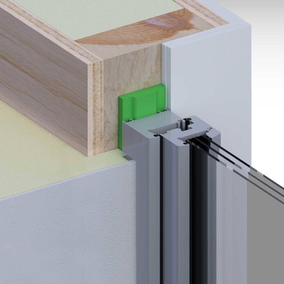 Montaż okna, uszczelnienie taśmą rozprężną w ścianie drewnianej z węgarkiem
