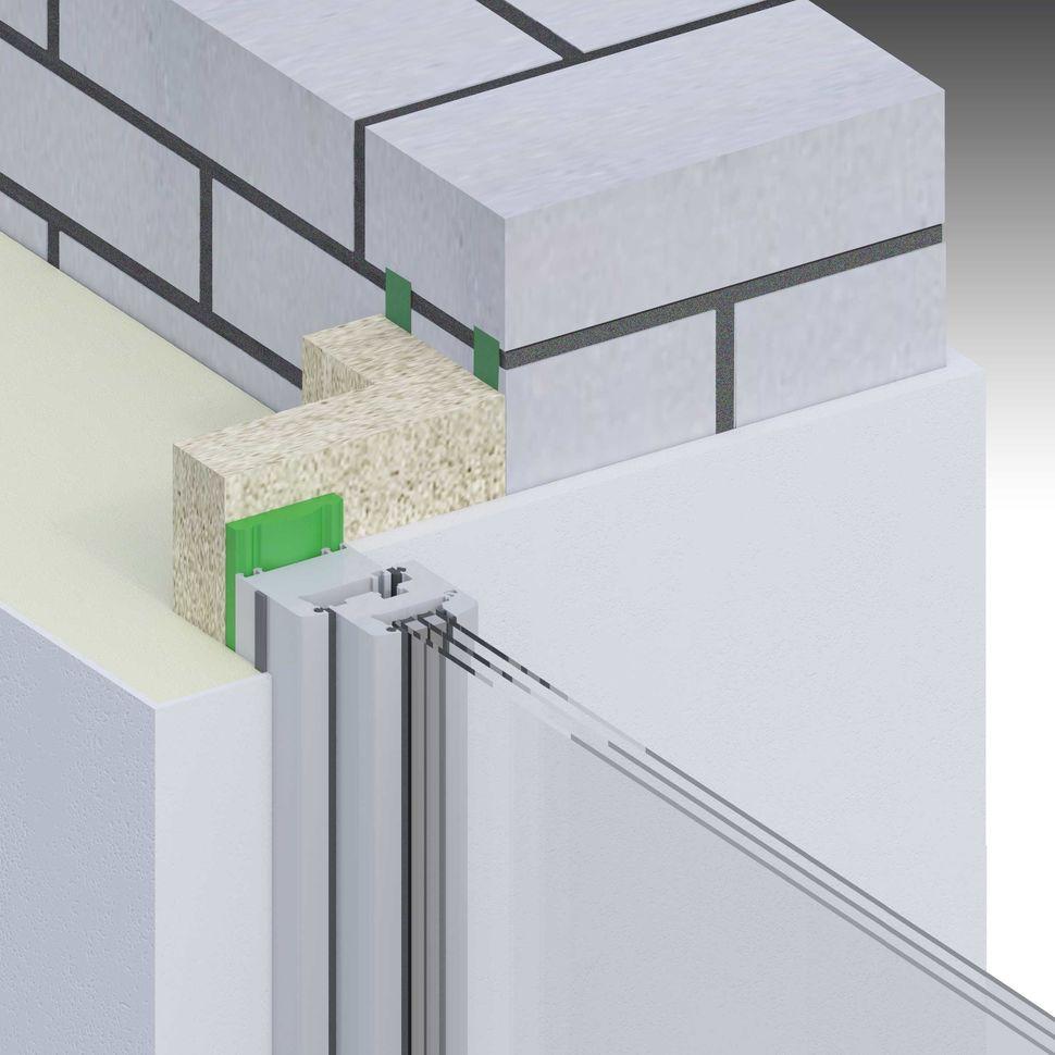 Montaż okna, uszczelnienie taśmą rozprężną w ścianie dwuwarstwowej z węgarkiem