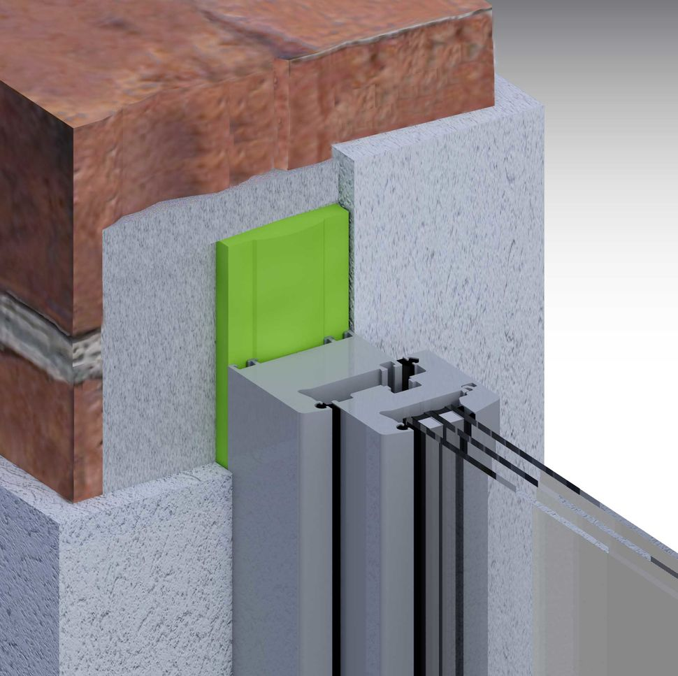Montaż okna, uszczelnienie taśmą rozprężną w ścianie jednowarstwowej