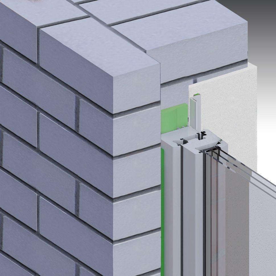 Montaż okna, uszczelnienie taśmą rozprężną w ścianie jednowarstwowej z węgarkiem