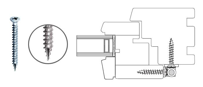 Wkręt Super JOT do mocowania okuć w oknach drewnianych