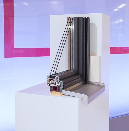 Okno Ideal 8000 z nakładkami aluminiowymi aluskin function
