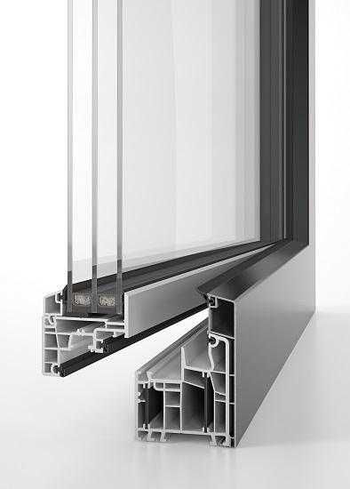 Okno energeto® 5000 view z całkowicie schowanym skrzydłem