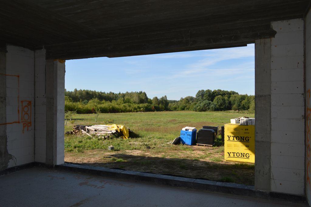Otwór ościeża drzwi tarasowych HST widok od strony wnętrza budynku