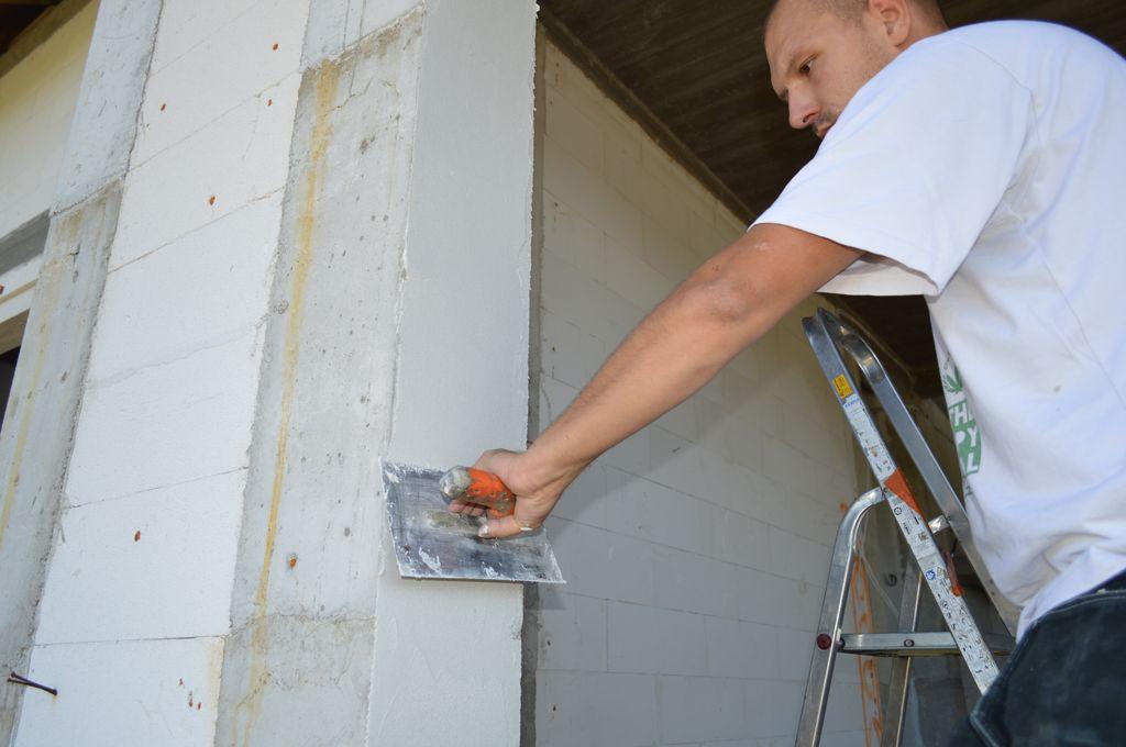 Przygotowanie muru konstrukcyjnego ościeża do montażu drzwi tarasowych HST