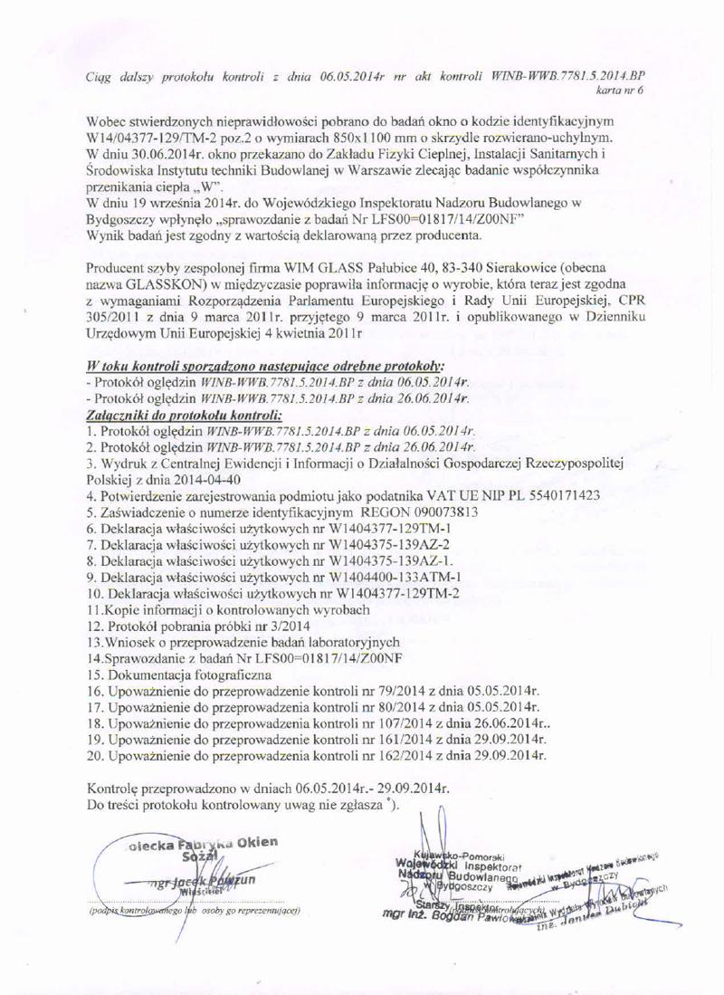 Protokół kontroli str. 6