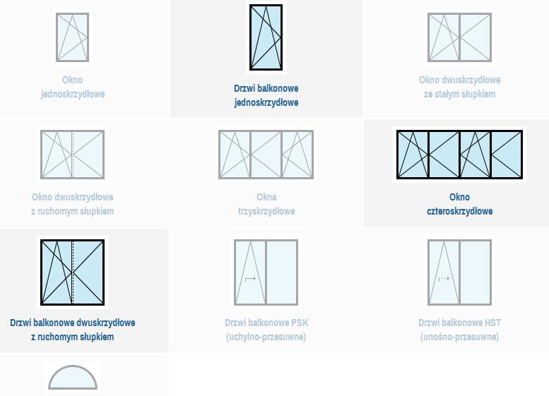 Porównywanie właściwości produktów - tabela wyboru konstrukcji okiennych