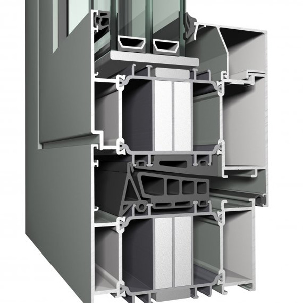 Okno aluminiowe Reynaers CS 104. Przekrój.