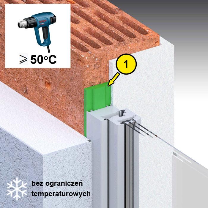 Montaż okien bez ograniczeń temperaturowych z wykorzystaniem taśmy rozprężnej illbruck TP650