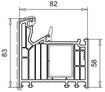 Veka Softline. Ościeżnica md 83mm 101291.
