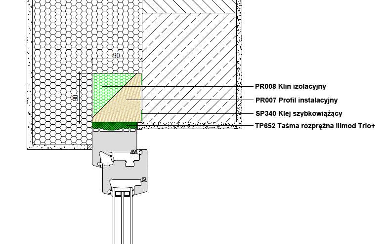 Górne uszczelnienie złącza okiennego illbruck MOWO typ II