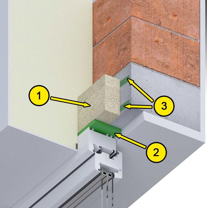 Górne uszczelnienie złącza okiennego illbruck MOWO typ I