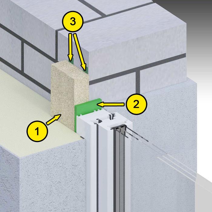 Boczne uszczelnienie złącza okiennego illbruck MOWO typ I