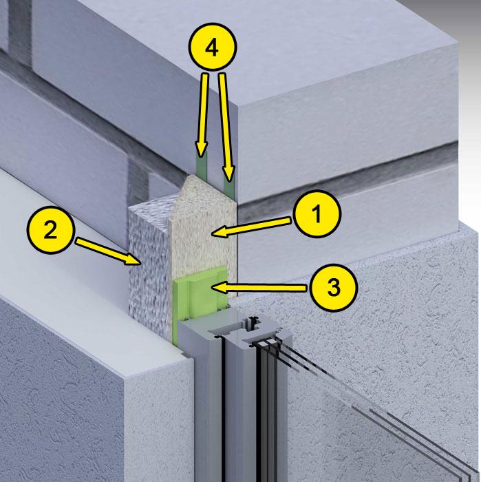 Boczne uszczelnienie złącza okiennego illbruck MOWO typ II