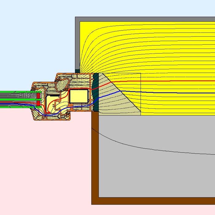 Przebieg izoterm dla bocznego uszczelnienia złącza okiennego illbruck MOWO typ II