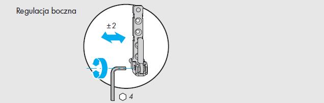 Okna regulacja okuć Siegenia - element D - zawias ramy