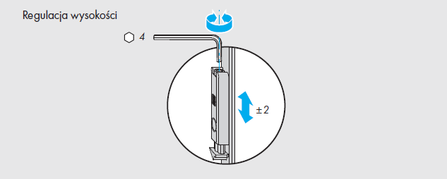 Okna regulacja okuć Siegenia  - element E - zatrzask balkonowy