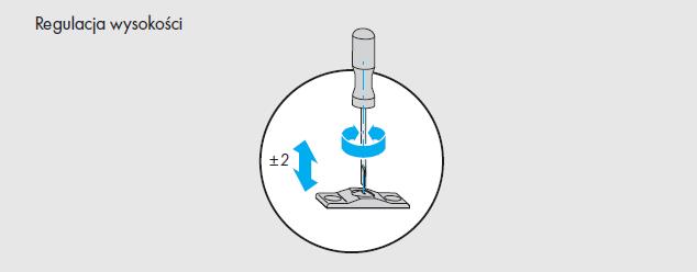 Okna regulacja okuć Siegenia  - element G - najazd - okna nietypowe