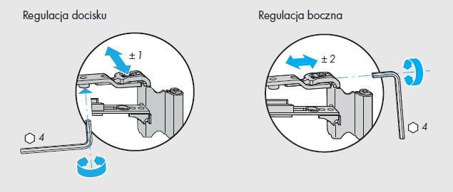 Okna regulacja okuć Siegenia - element A - rozwórka