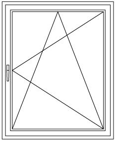 Okno uchylno rozwierne UR schemat