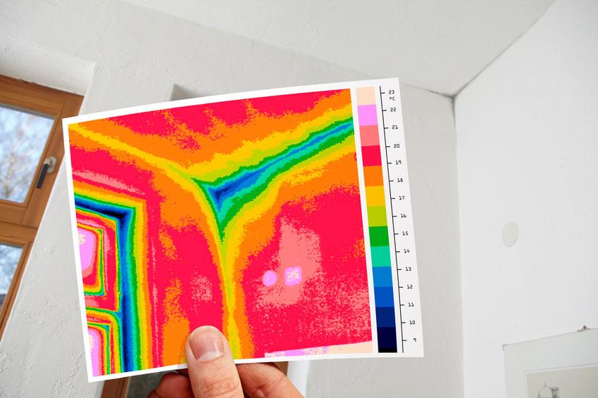 Zdjęcie - termogram wnętrza pomieszczenia
