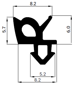 Uszczelka S - 1387 F do okna PCV