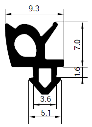 Uszczelka S - 1662 do okna PCV