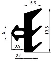 Uszczelka S - 1121 do okna Thermoplast