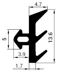 Uszczelka S - 1122 do okna Thermoplast