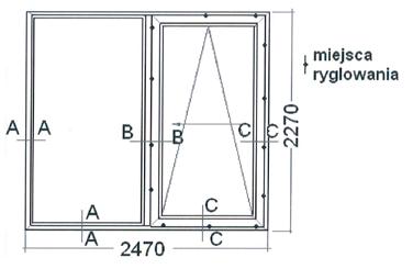 Drzwi balkonowe uchylno-przesuwne PSK firmy VIDOK