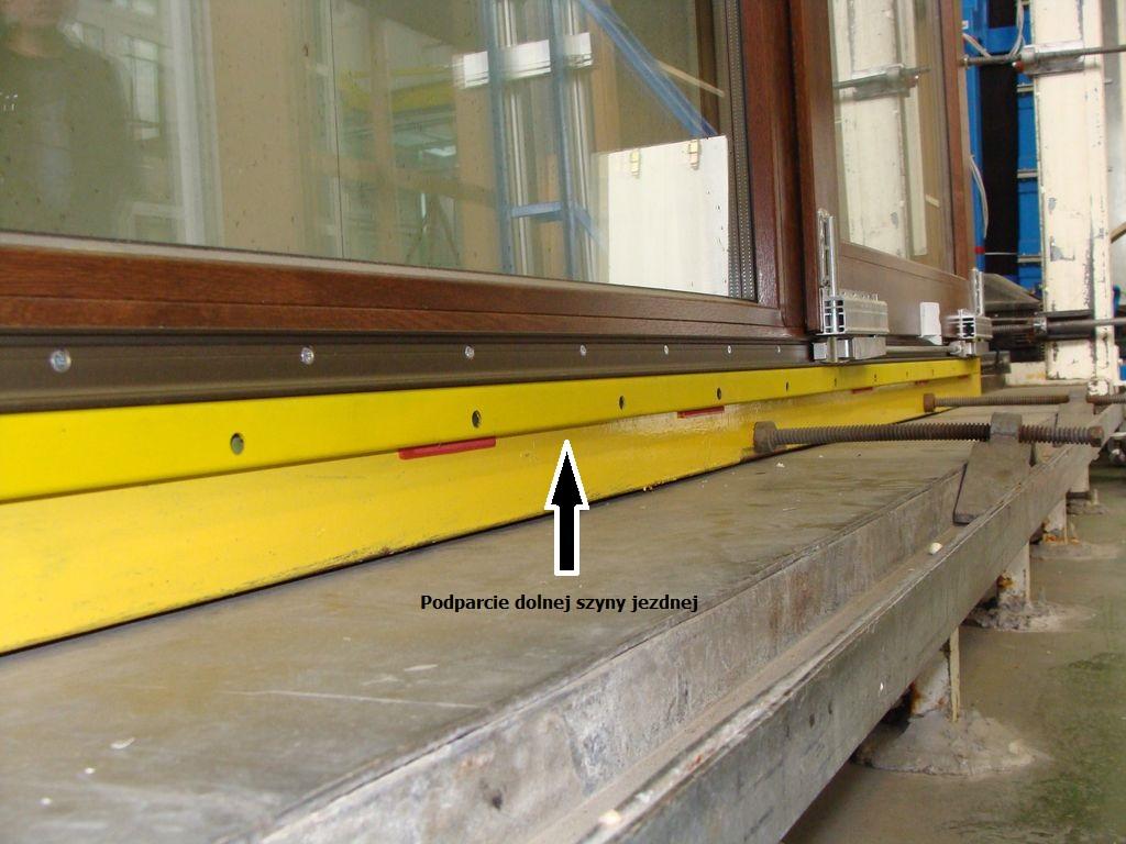 Podparcie dolnej szyny jezdnej drzwi balkonowych PSK VIDOK PATIO