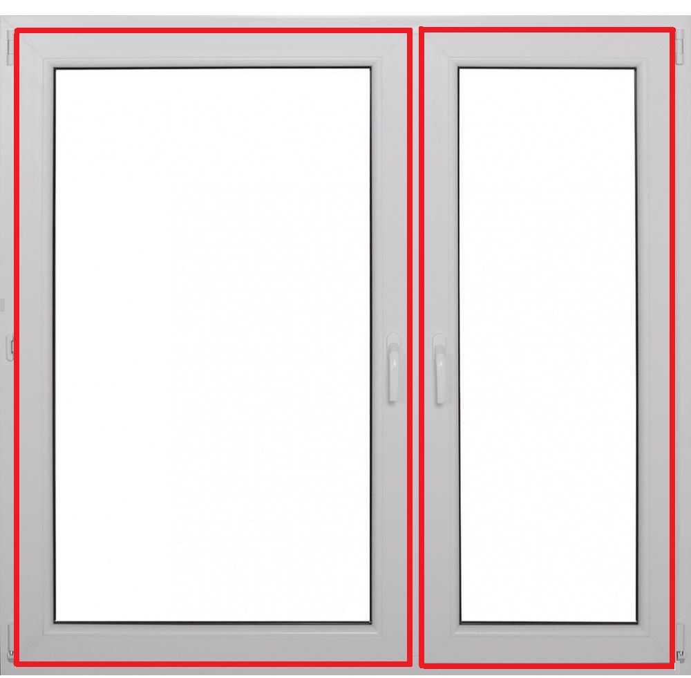 okno o34 wymiar 1465mm na 1435mm. Linia stykowa.