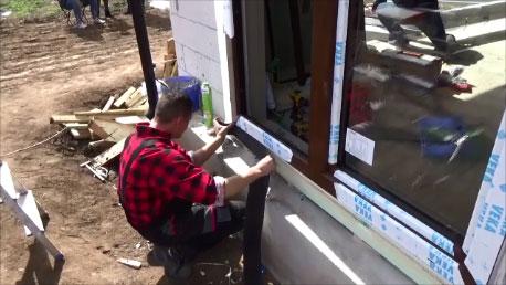 Uszczelnienie progu okna fartychem EPDM
