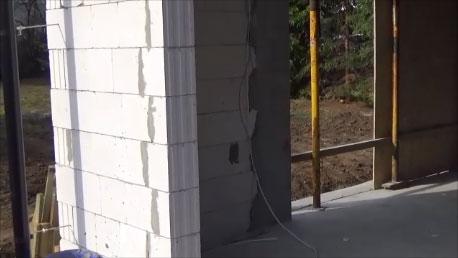 Sciana ościeża okna nieprzygotowana do montażu okna
