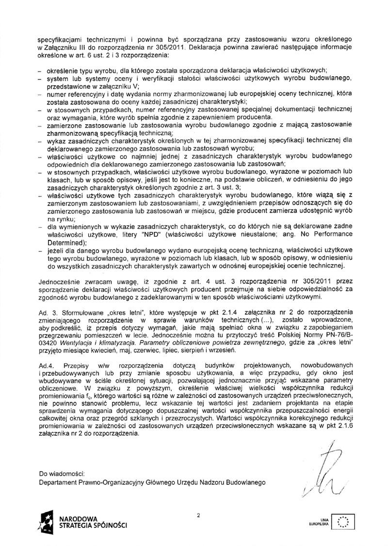 Odpowiedź Ministerstwa Infrastruktury i Rozwoju
