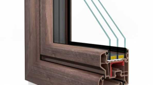 Okna PCV VETREX V70 OPTIMAL BLACK