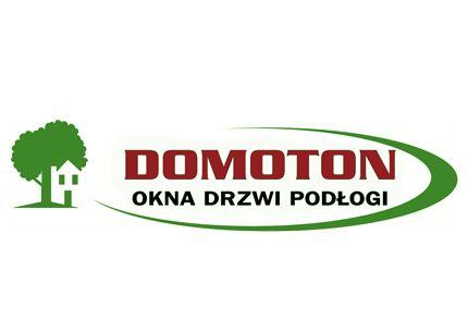 DOMOTON OKNA DRZWI PODŁOGI logo