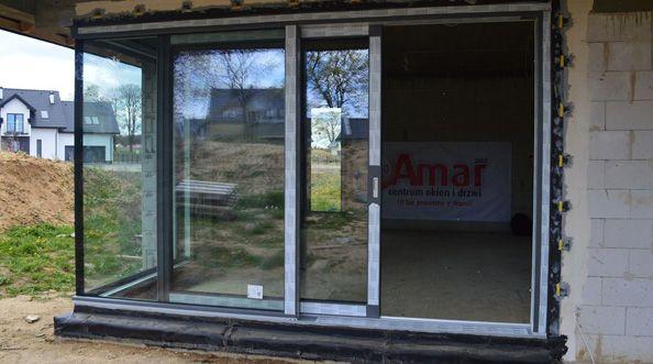 AMAR - montaż drzwi przesuwnych HST AdamS Passiv Corner View