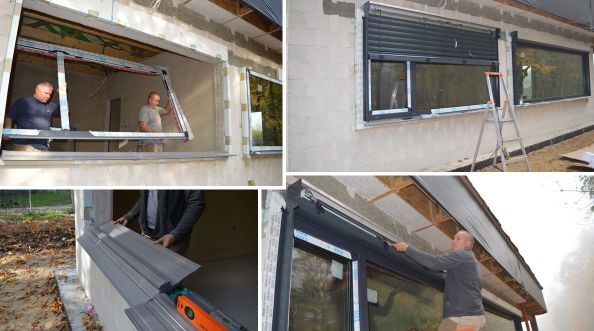 FIX - montaż okien i żaluzji fasadowych w budynku pasywnym