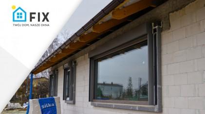 FIXOKNA - okno z żaluzją fasadową. Montaż w warstwie ocieplenia.
