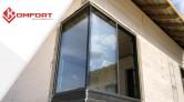 KOMFORT - montaż aluminiowych drzwi tarasowych HST z glasscornerem