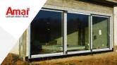 Montaż drzwi balkonowych HST na podporach stalowych