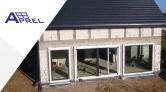 Aprel - montaż dużych okien z żaluzjami fasadowymi w systemie Ciepłej Belki Montażowej
