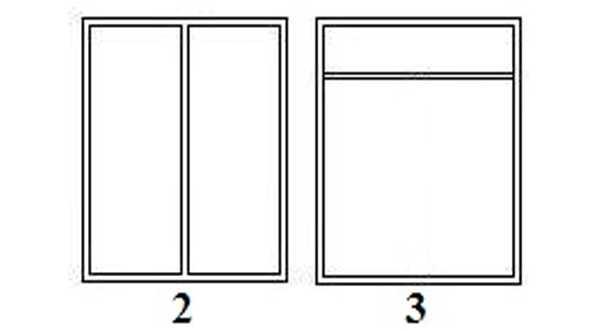Podziały powierzchni okna z PCV